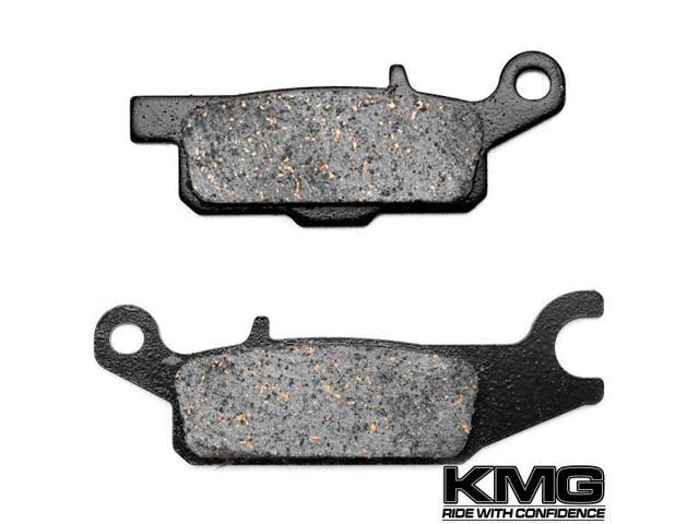 Non-Metallic Organic NAO Brake Pads Set Rear Brake Pads for 2009-2011 Yamaha YFM 550 4WD Grizzly Auto FI KMG Front