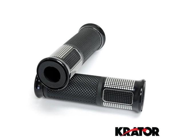 Krator Silver Motorcycle Handle Open Bar Ends Hand Grips 7//8 For Yamaha FZ1 FZ6 FZ600 FZ700 FZ750