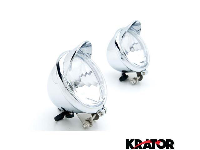 Custom Chrome Passing Fog Auxiliary Light For Suzuki Boulevard S40 S50 S83