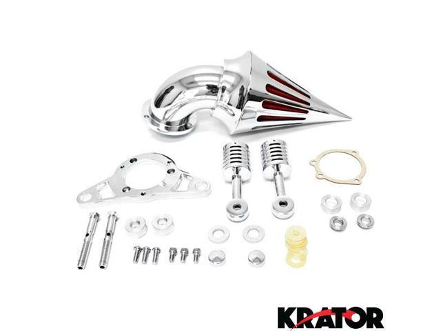 krator motorcycle chrome spike air cleaner intake filter
