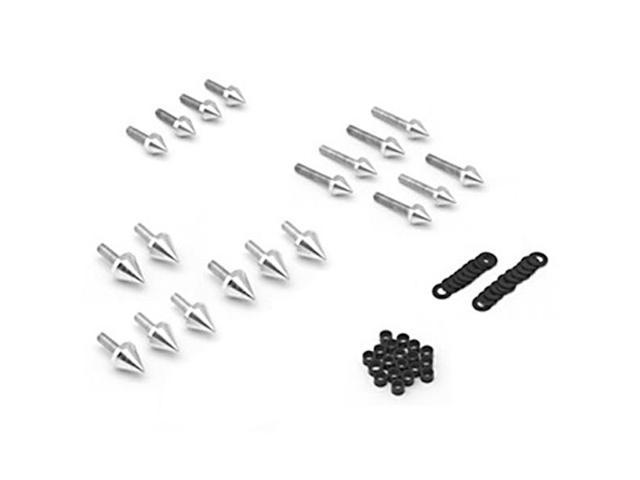 motorcycle spike fairing bolts silver spiked kit for 2003-2006 honda cbr 600rr