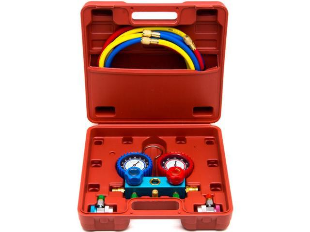 KapscoMoto Keychain Biltek NEW Professional A//C Air Conditioner Refrigerant Manifold Gauge Kit Set R134a HVAC