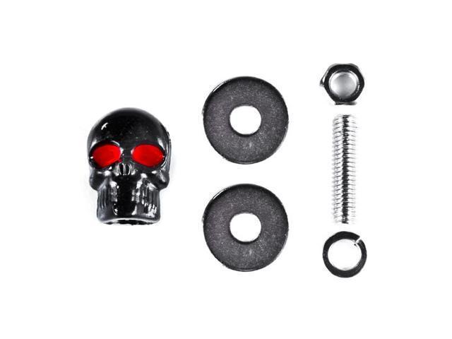 Krator Custom Chrome Skeleton Skull Bolt Nuts Screws 6mm For Victory Cross Country