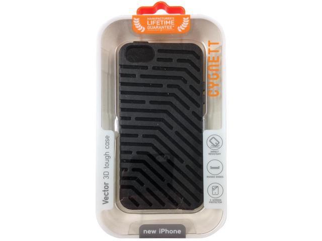 best service e099b 0521d Cygnett Vector Black 3D Tough Case for iPhone 5 CYO854CPVEC - Newegg.com