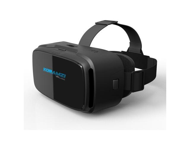 Koramzi Vr 3d Glasses Virtual Reality Headset Vr Goggles For Any 4 6 Inch Smartphones Iphone 6s 6 Plus Samsung Galaxy Series Black Newegg Com