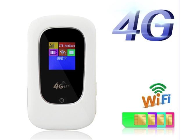 Unlock 100Mbps 4G LTE Router 4G Modem Wifi Router With Display Screen  LTE-TDD/FDD1800/2100/2300/2600Mhz Mini 3G 4G Wifi Router with SIM Card Slot  -