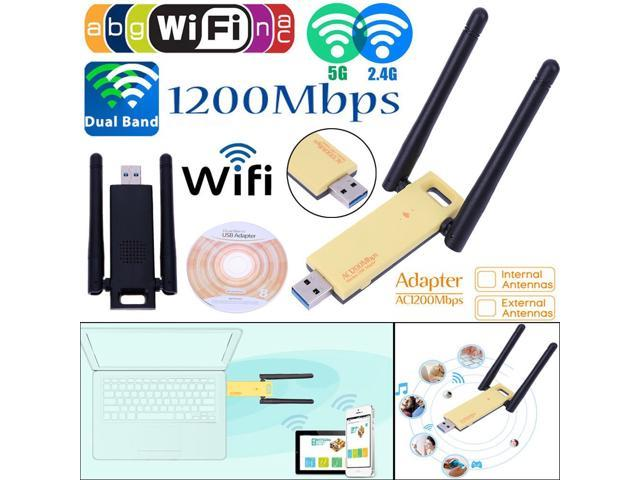 KuWfi WD-4602AC Wireless USB Adapter 1200Mbps Dual Band 5Ghz 2 4Ghz Mini  USB Network Card 802 11ac RTL8812AU Chipset Aerial Dongle - Newegg com