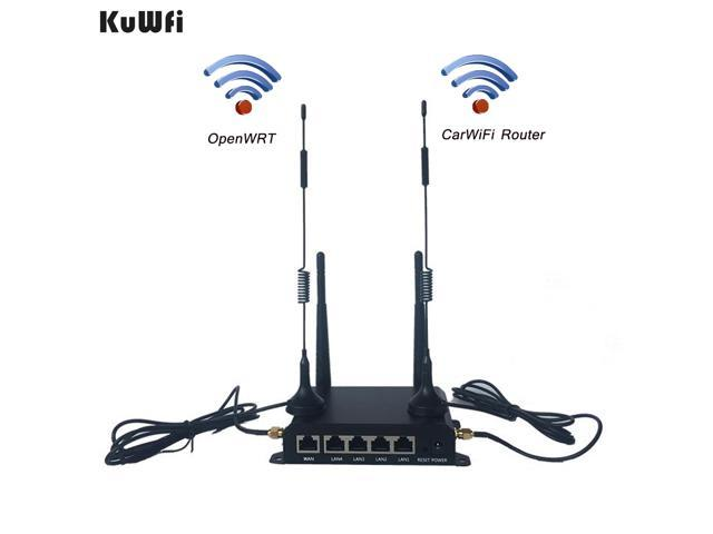 KuWfi CPE905 300Mbps OpenWRT Industrial 4G LTE CarWiFi Router with SIM Card  Slot - Newegg com