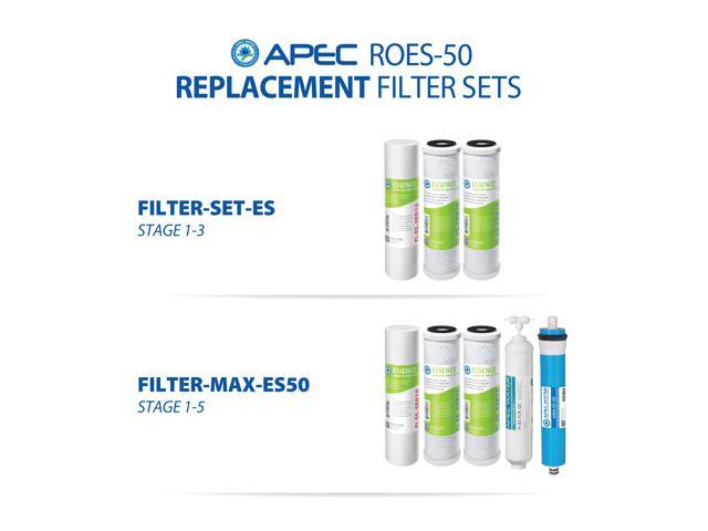 Apec Top Tier Roes 50 5 Stage Ultra Safe Reverse Osmosis Drinking Water Filter System Newegg Com