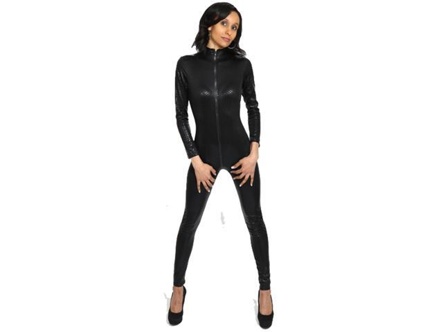 6330bd27b937 I-Glam Women s Snake Skin Print Gothic Punk Overall Lycra Catsuit Romper