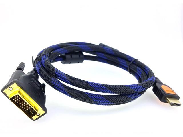 Caxico 5 Feet HDMI Male to VGA Male D-SUB 15 Pin M//M Connector Cable 5ft//1.5M Black