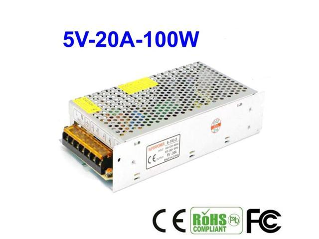 5V 20A 100W Regulated Switching Power Supply For CCTV Security Camera -  Newegg com