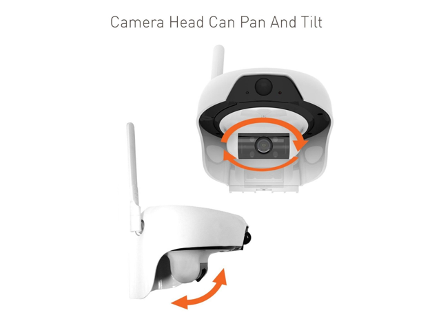Solar Powered Wireless Outdoor WIFI IP Surveillance Camera Audio CCTV  System - Newegg com