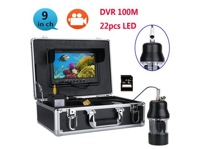 9 Inch Color Screen 100m Professional Underwater Fishing Video Camera Fish  Finder Waterproof 22 LEDs 360 Degree Rotating Camera - Newegg com