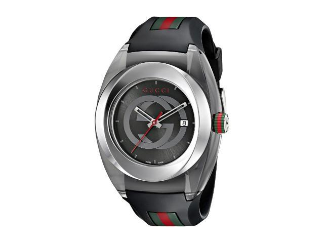 Gucci Sync XXL Black Rubber Unisex Watch YA137101
