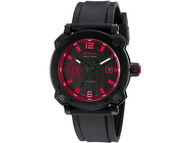 6f1c2ee32 Bulova 65B165 Accu Swiss Percheron Manchester United Special Edition Black  Automatic Men's Watch