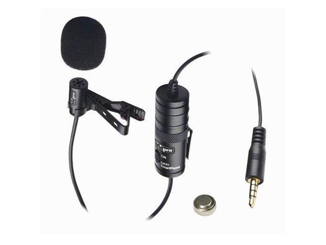 Samsung GALAXY S6 GSM Cell Phone External Microphone$Vidpro XM-L Wired  Lavalier microphone - 20' Audio Cable - Transducer type: Electret Condenser  -