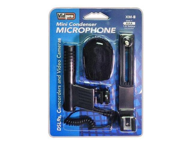 Sony HDR-CX455 Camcorder External Microphone Vidpro XM-CS Condenser Stereo XY Microphone Kit for DSLR/'s video camcorders and audio recorders With a Pack of 4 AA NiMH Rechargable Batteries 2800mAh