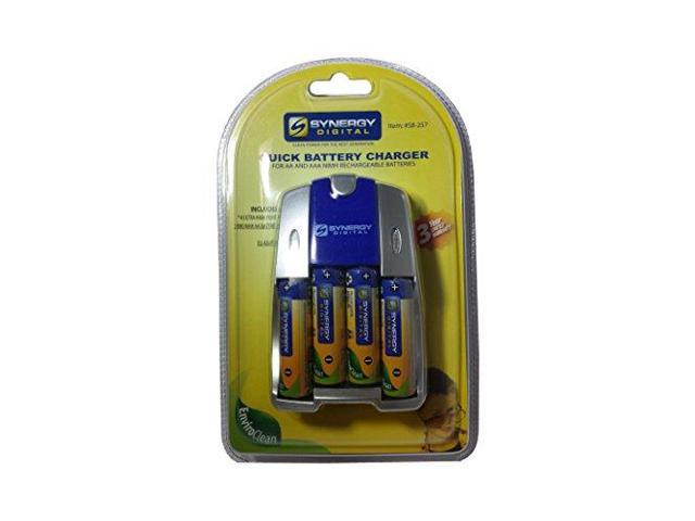 with Charger Minolta DiMage S404 Digital Camera Battery Charger Replacement for 4 AA NiMH 2800mAh Rechargeable Batteries