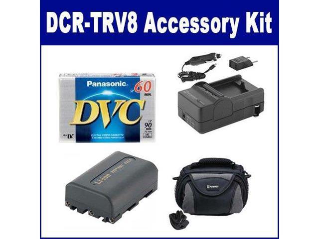 Sony DCR-TRV8 Camcorder Accessory Kit includes: SDC-26 Case, DVTAPE Tape/  Media, SDM-101 Charger, SDNPFM50 Battery - Newegg com