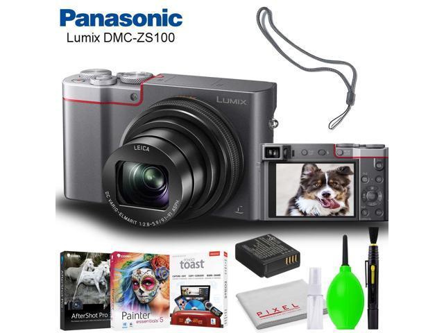 Panasonic Lumix DMC-ZS100 Digital Camera (Silver) Accessory Bundle with  Editing Software and Cleaning Kit - Newegg com