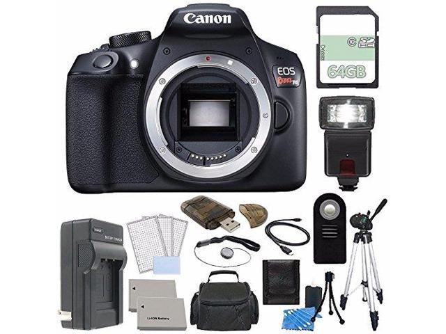 Canon Eos Rebel T6 Dslr Camera Body Only Rechargable Li Ion Battery External Charger 64gb Wireless Remote Ca