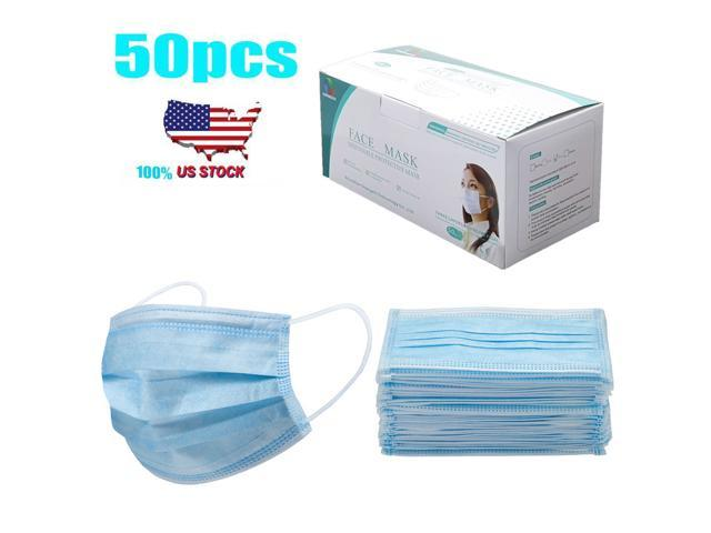 40pcs/pack Disposable Face Mask Anti-Dust Proof Respirator 3-ply Face Mask Cover Non-woven Antiviral Mouth Mask