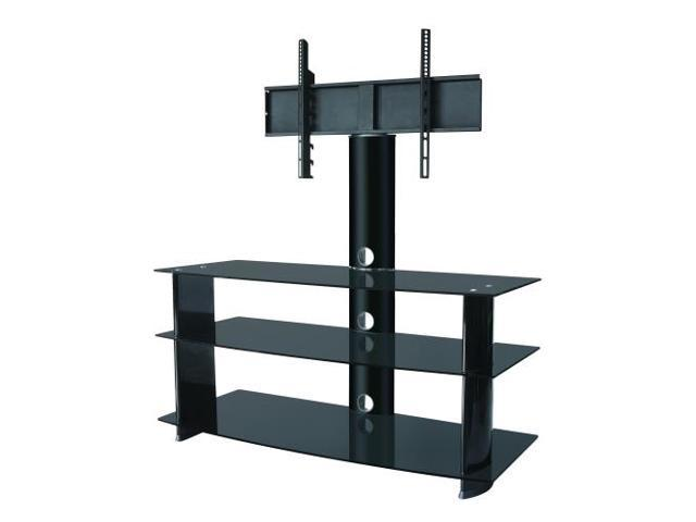heavy duty tv stand w 3 shelf up to 55. Black Bedroom Furniture Sets. Home Design Ideas