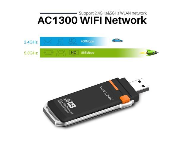 COMFAST Wireless WiFi Adapter AC1900 11AC Dual Band 2.4G//5G USB Wireless Adapter Network Card for Desktop and Laptop of Windows 10//8//8.1//7//XP
