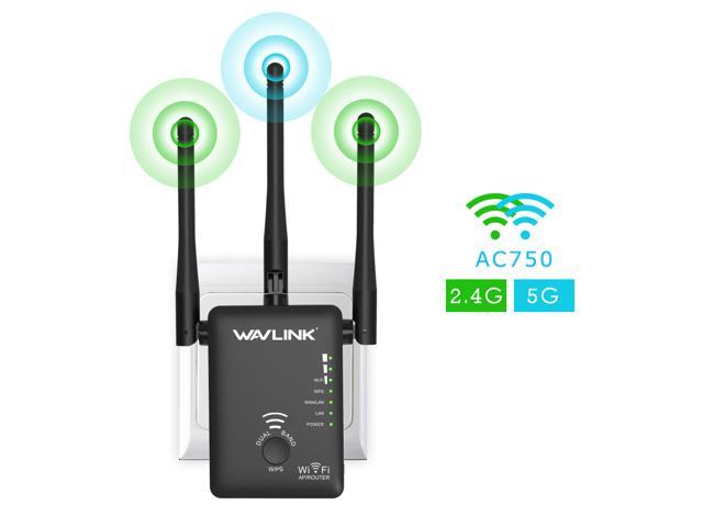 WAVLINK 300Mbps Wi-Fi Extender Wireless Range Extender Wireless Extender 2 Ethernet Port Wireless Repeater//Router//AP Mode, Plug and Play,WPS