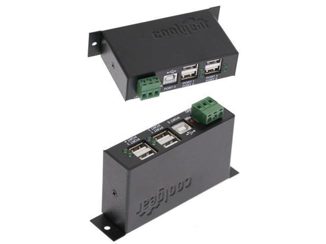 Usbgear 12 Volt Usb Hub Industrial 4 Port Usb 2 0 Powered