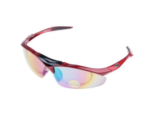 624f46771a OBAOLAY UV400 Protection Sunglasses for Outdoor Sports (Red ...