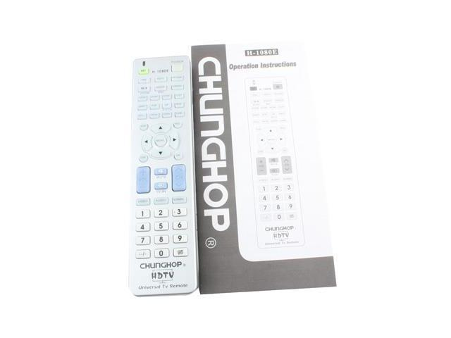 Chunghop Universal TV Remote Control with Specific HDTV Navigation Feature  (H-1080E) - Newegg com