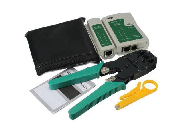 LAN Network Tool Cable Tester Crimp Crimper Kit Cat5 Cat5e RJ45 RJ11