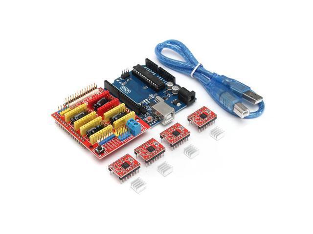 3D printer Kit for Arduino CNC Shield V3+UNO R3+A4988*4 GRBL Compatible -  Newegg com