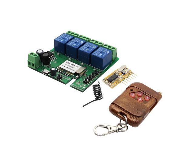SONOFF DIY 32V 4 Channel Jog/Inching And Self-locking + 433MHz Receiver  Module + APP Remote Control For WIFI Wireless Smart Home Switch - Newegg com