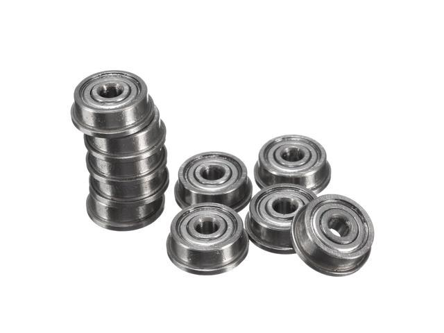 10Pcs Sealed Flanged Ball Bearing Miniature Metal Shielded for Industry Machine