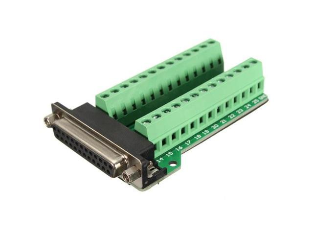 DB25 25 pins Female Adapter RS-232 Port Interface Breakout Board Connector