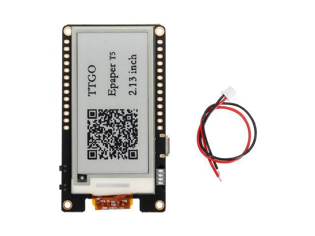 Wemos T5 V2 0 TTGO WiFi Wireless Module Bluetooth Base ESP-32 2 13 ePaper  Display Development Board - Newegg com