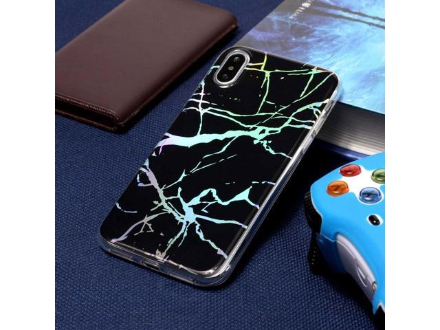 For iPhone X / XS Black Gold Marble Pattern Soft Protective Back Cover Case  - Newegg com