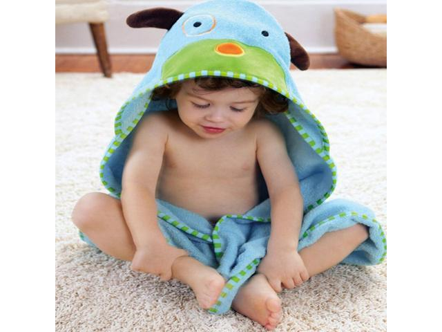 Ilovebaby Baby Boy Girl Dressing Gown Splash Wrap Bath Hooded Towel