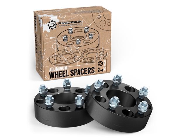 RockTrix For Precision European 60pc 6060 Black Wheel Adapters 60x60 Classy Dodge Durango Lug Pattern