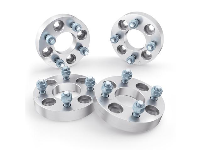 1 inch (25mm) Wheel Spacers 4x130 to 4x100 Adapters (Changes Bolt Pattern)  Metric 12x1 5 Studs Nuts - for 1968-1979 VW Beetle Bug, 1970-1976 Porsche
