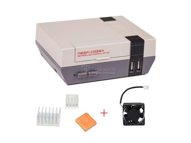 Mini NES NESPI CASE, Retroflag Nespi Case with Cooling Fan and Heat Sinks  Designed for RetroPie Raspberry Pi 3 / 2 / B+ - Newegg com