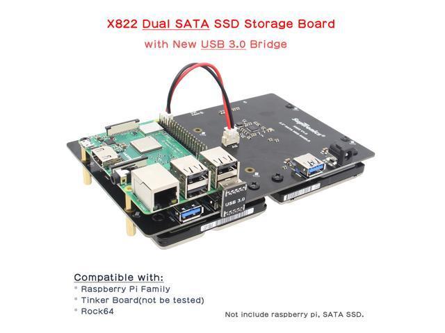 Raspberry Pi 3 Model B+ (B Plus)/ 3B X822 Dual 2 5