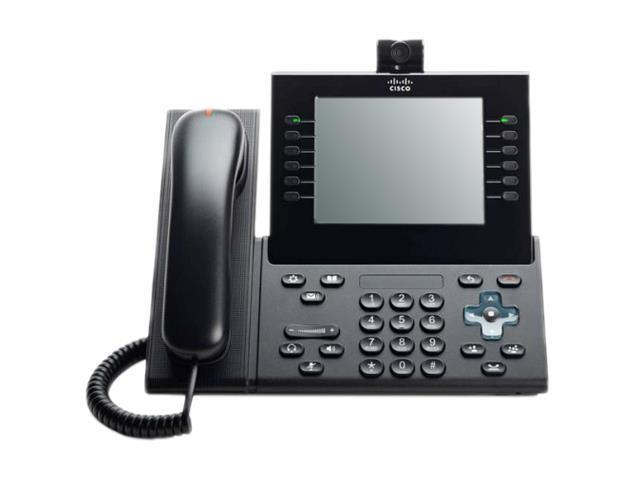 Cisco CP-9971-C-K9 Unified IP Phone 6 Line Colour USB SIP w// CP-CAM-C /& Stand