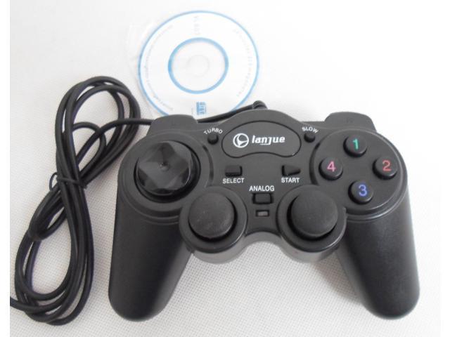 wholesale USB wried Black PC gaming game pad controller with vibration  gamepad handle usb nes controller joystic snes joypad - Newegg com