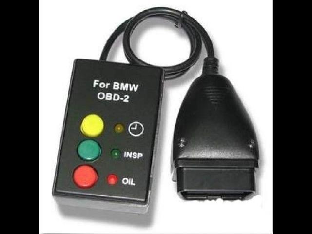 bmw service light reset via obd2 RESET TAGLIANDO Oil Inspection OBD2 OBDII  Oil Service Reset Tool for BMW E39 E46 E50 E52 E53 Mini E38 X5 Z4 -