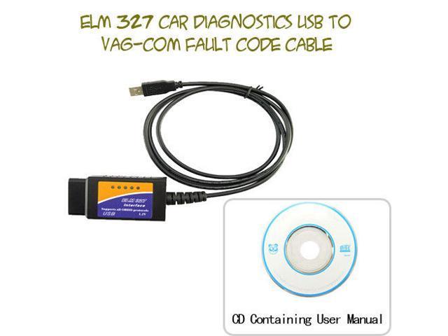 ELM327 COM serial port test lineIn English Health Check Car Cable  Diagnostic OBD2 USB to VAG-COM Fault Code Cable ELM 327 - Newegg com