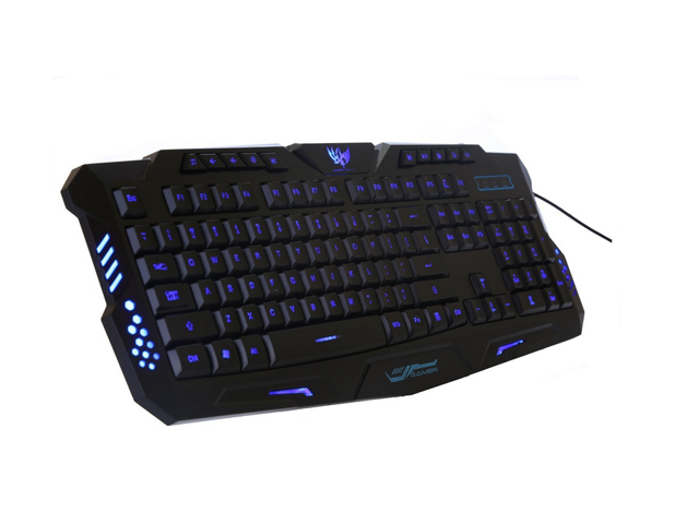 ed0b1694e56 Professional Gaming Keyboard USB Wired Keyboard Mechanical Keyboards for  Computer Gamer 3 Color LED Backlight Keyboard HK-M200